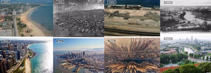 Vývoj oblíbených světových měst za posledních více než 100 let. Jak rychle se jejich podoba měnila?
