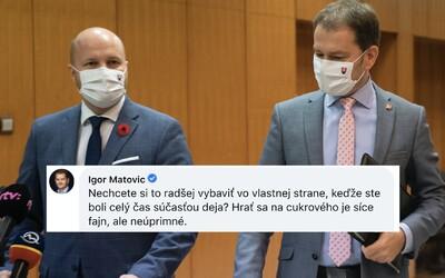 Naď a Matovič sa pustili do starostu Hlohovca v komentároch na Facebooku: Vybavte si to v Za ľudí, nakladali mu.