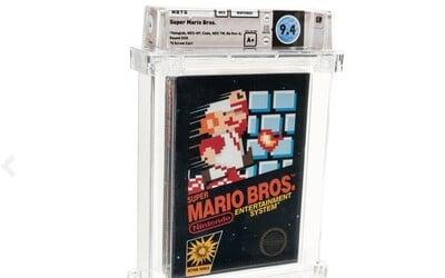 Nový rekord pro nejdražší hru na světě: Super Mario Bros. se prodal za 114 tisíc dolarů.
