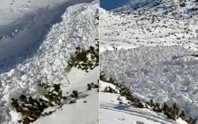 """VIDEO: Slováci natočili v Tatrách obrovskou lavinu. """"To je masaker, ty kokos,"""" neskrýval emoce kameraman."""