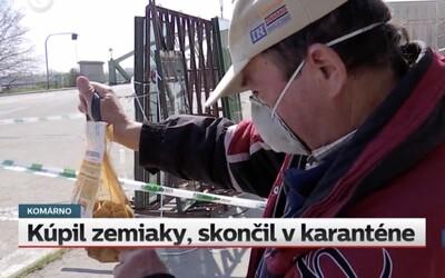Slovák išiel peši kúpiť zemiaky do Maďarska, teraz musí ísť na 14 dní do povinnej karantény. Manželka bude rada, hovorí.