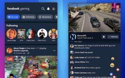 Facebook chce konkurovat Twitchi, hry se budou streamovat přes novou aplikaci pro mobily