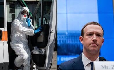 Facebook daruje 720 tisíc respirátorů americkým zdravotníkům. Hledá prostředky na další miliony kusů