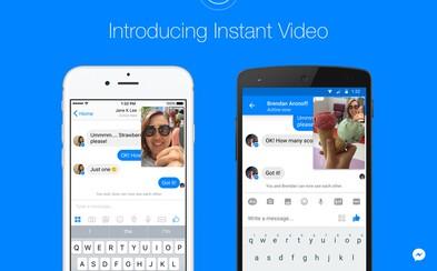 Facebook opäť útočí na Snapchat. Messengeru pribudnú instantné videá, ktoré obohatia konverzácie