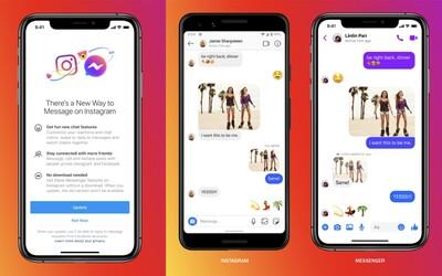 Facebook začíná slučovat zprávy z Messengeru a Instagramu. Takto budou tvé DM vypadat již brzy
