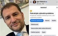 Facebook zmazal Matovičove príspevky, premiér porušoval autorské práva