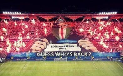 Fanúšikovia Legie Varšava opäť potvrdili, že patria k najlepším na svete. Svoj najnovší kúsok predviedli v Lige majstrov