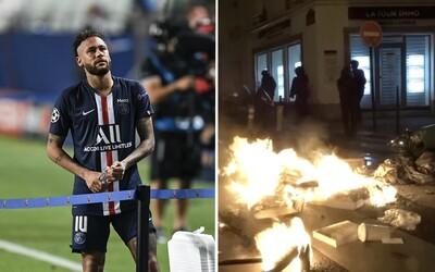 Fanúšikovia Paríža Saint-Germain neuniesli prehru proti Bayernu. Po finále Ligy majstrov začali rozbíjať obchody