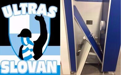 Fanúšikovia Slovana rozkopali záchody na trnavskom štadióne. Svojím hrdinským činom sa nezabudli pochváliť na Facebooku