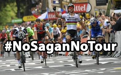Fanúšikovia vo veľkom podporujú Petra Sagana a vyjadrujú nespokojnosť s Tour de France. Zastávajú sa ho aj cyklistické legendy
