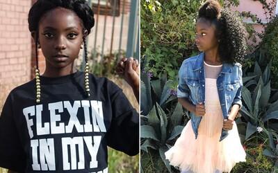Farba pleti neovplyvňuje tvoju krásu ani charakter. 10-ročné dievčatko porazilo rasizmus a šikanu založením vlastnej kolekcie oblečenia