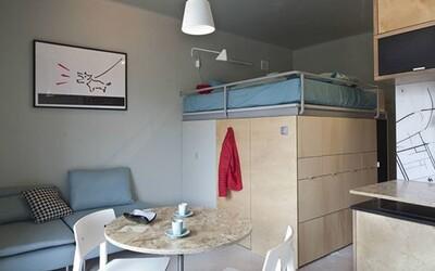 Fascinující multifunkční byt, který se i přes rozlohu 25 metrů čtverečních nezdá být stísněný