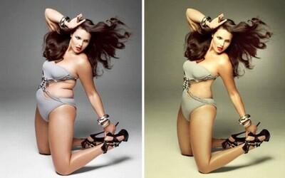 Fascinujúce porovnania fotografií celebrít pred a po aplikovaní Photoshopu. Vďaka nemu sa nemusia báť žiadnych nedostatkov