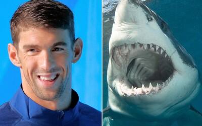 Fenomenálny Michael Phelps si zmeral sily s bielym žralokom. Kto zvládol zdolať stometrovú dráhu rýchlejšie?