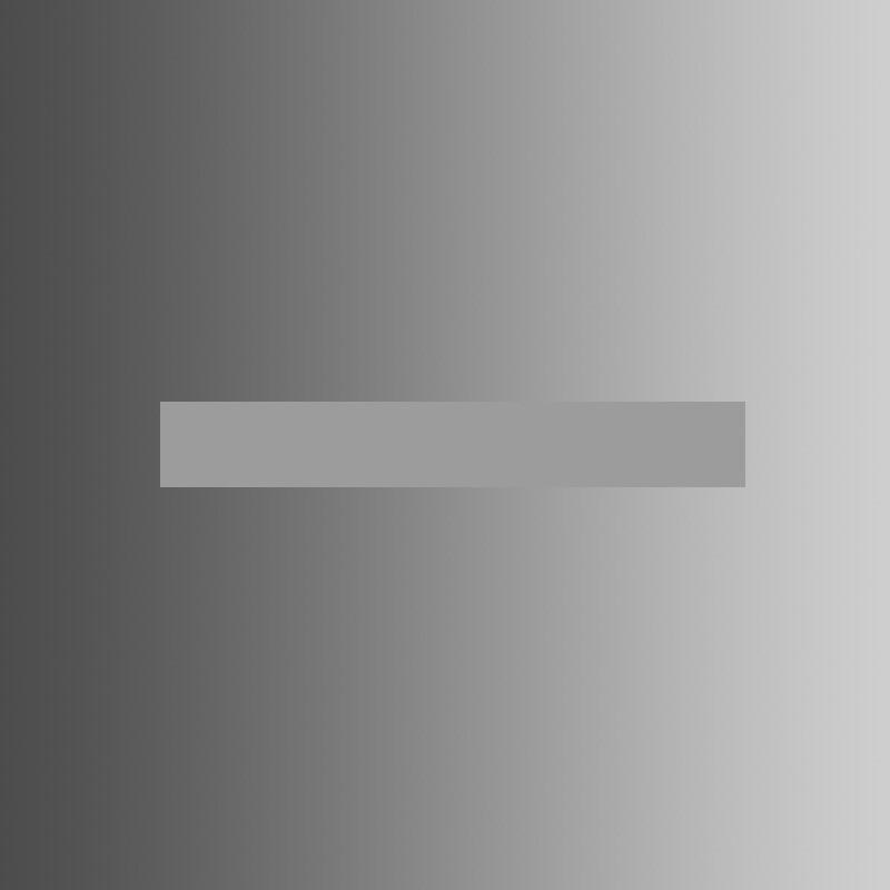 Ktorá strana vloženého obdĺžnika je tmavšia?