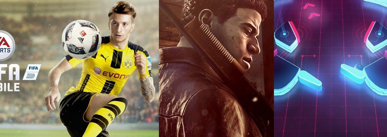 FIFA, návykový PinOut, Mafia III i skvělé arkádovky na odreagování. 7 kvalitních her do tvého smartphonu