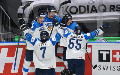 Finsko poráží Kanadu a odnáší si ze šampionátu na Slovensku zlato