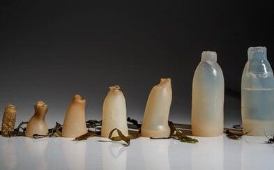 Fľaša vyrobená z rias, ktorá sa po vyprázdnení rozloží. Zachráni našu planétu od hromady odpadkov?