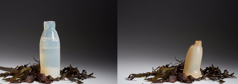 Láhev vyrobená z řas, která se po vyprázdnění rozloží. Zachrání naši planetu od hromady odpadků?