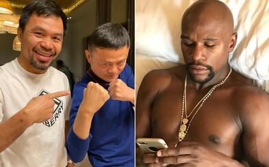 Floyd Mayweather se vysmívá Mannymu Pacquiaovi a nejbohatšímu muži Číny. Kdo to je, ptal se na miliardáře