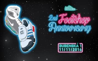 Footshop oslavuje druhé výročí své pražské prodejny prostřednictvím party ve stylu Back to the Future