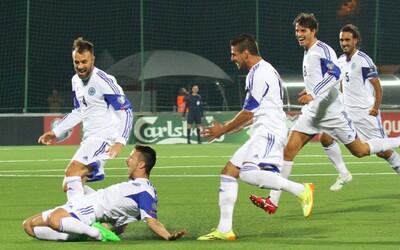 Fotbalisté San Marina vstřelili po 14 letech gól na půdě soupeře. Jejich spontánní a upřímná radost mluví za vše