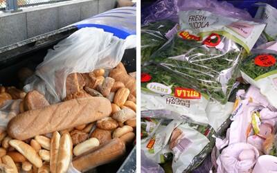 FOTO: Fotograf objavil vyhodené zásoby jedla, ktoré pravdepodobne nestihli v supermarkete pred Vianocami predať