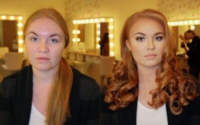 FOTO: Jednoducho šokujúca sila make-upu: Žena pred a po nalíčení