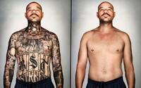 Fotograf pomocí počítače odstranil tetování bývalým gangsterům a přeměnil je tak k nepoznání