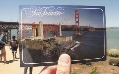 Fotograf šikovne prirovnáva pohľadnice zo San Francisca k realite