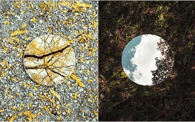 Fotograf zachycuje umění v přírodě pomocí odrazu v zrcadle