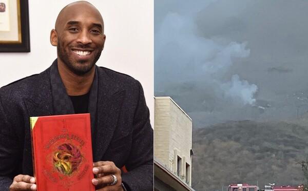 Fotografie z miesta nehody zaznamenávajú momenty po páde helikoptéry, v ktorej prišiel o život Kobe Bryant