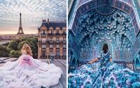 Fotografka zachycuje nejkrásnější ženy v šatech na nejkrásnějších místech naší planety