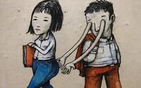 Francouzský Banksy už roky kontroverzně ilustruje dnešní společnost. Zamýšlením se nad jeho vzkazy můžeš strávit hodiny
