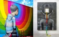 Francúzsky umelec dodáva nezaujímavým budovám unikátny šmrnc a premieňa ich na dúhou zaplavené stavby