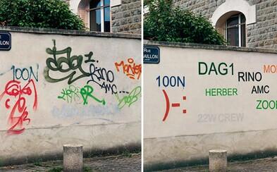 Francúzsky umelec pretvára grafiti na čitateľné verzie. Vyzerajú menej originálne, ale aspoň pochopíš význam