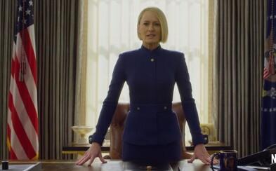 Frank Underwood je mŕtvy, nech žije nová prezidentka Claire Underwood. Navnaďte sa prvými zábermi na finálnu sériu House of Cards