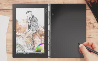 Futuristický laptop Lenovo Yoga Book mieri na Slovensko. Má virtuálnu klávesnicu a jeho stylus nahradí pero aj ceruzku