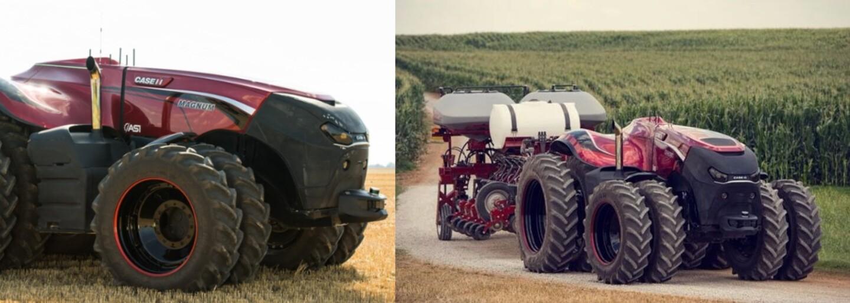 Futuristický traktor nemá kabinu pro řidiče a ovládat se dá z tabletu. Farmářský sen umí na pole vjet úplně sám