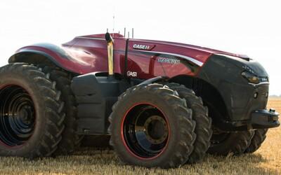 Futuristický traktor nemá kabínu pre vodiča a ovládať sa dá z tabletu. Farmársky sen vie na pole vyjsť úplne sám