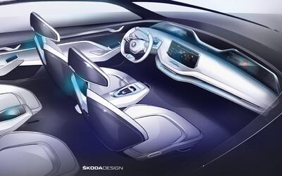 Futurističtější interiér škodovky jste ještě neviděli. Její první elektromobil přijde již za několik dní
