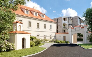 Fúze moderní a historické architektury v blízkosti Prahy, která může být vaše za 10 milionů