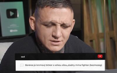 Gábor Boráros neberie steroidy, vezme ťa však so sebou rozbiť sa na Balaton. MMA zápasník číta komentáre hejterov