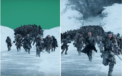 Game of Thrones očami CGI: Jon Snow utekal pred zeleným plátnom a Daenerys jazdila na trenažéri