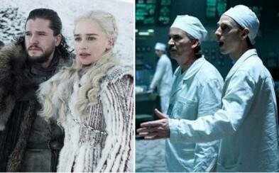 Game of Thrones se stalo nejlepším dramatickým seriálem a získalo Emmy. Uspěl i vynikající Černobyl či Black Mirror