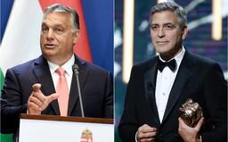 George Clooney se dostal do konfliktu s maďarskou vládou. Premiér Orbán vytáhl George Sorose