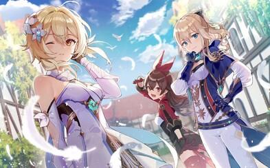 Gigantická čínská RPG hra Genshin Impact vydělala za půl roku rekordní miliardu dolarů jen na mobilech. Je přitom zdarma