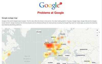 Google měl masivní výpadek. Nefungoval Gmail, Drive ani YouTube