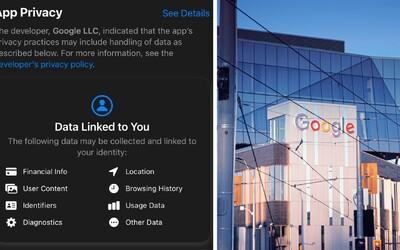 Google musel kvůli novým pravidlům Apple ukázat vše, co o tobě ví. Sleduje platby, polohu, historii i tvé kontakty