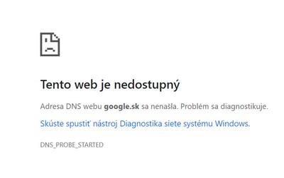 Google nefunguje, hlásili ľudia z celého Slovenska